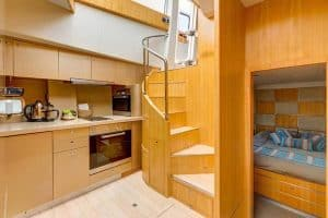 kitchen area boat