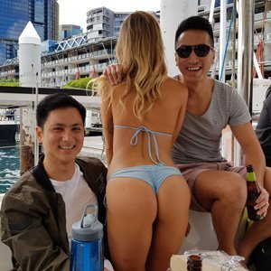 sexy girl on boat