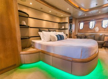 lavish bedroom boat