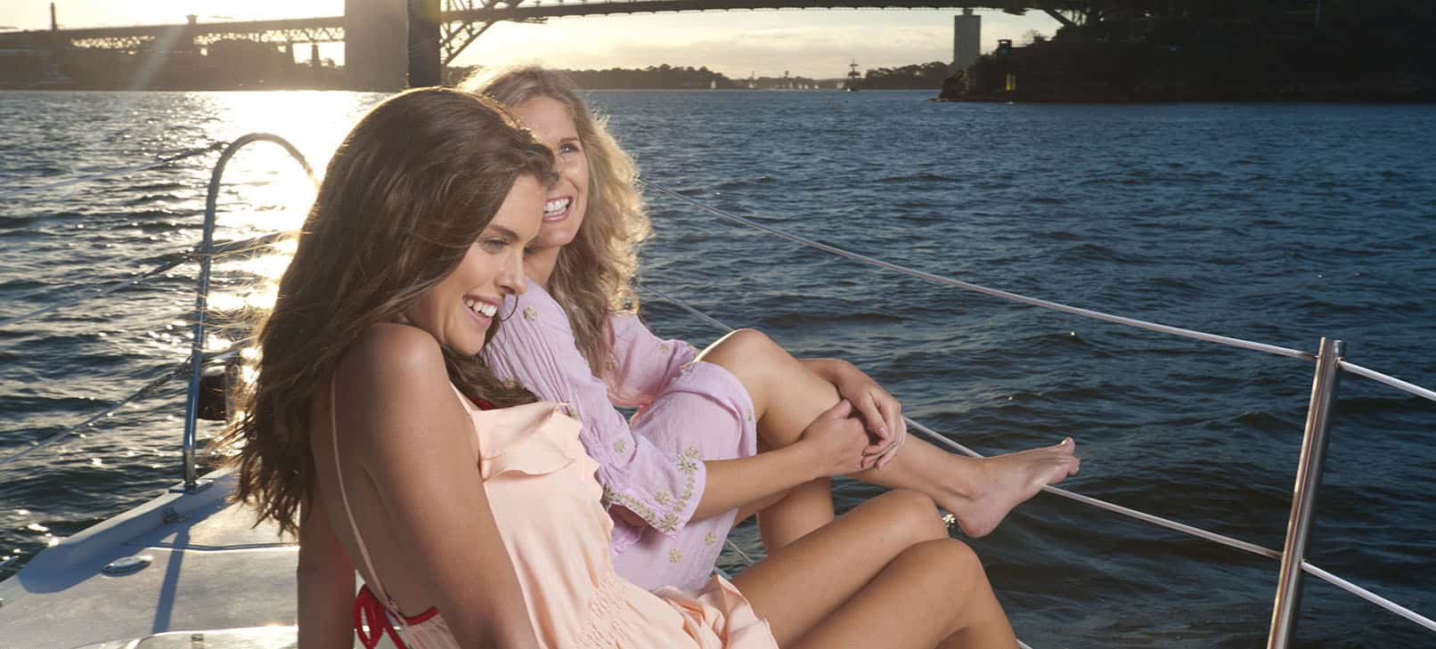 young women enjoying a hens cruise in Sydney